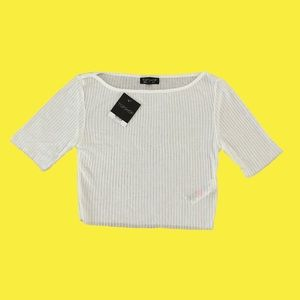 Topshop White Cropped Top size 6